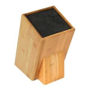 Mantello Universal Bamboo Wood Knife Block