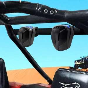 "GoHawk ATN4 All-in-One Built-in Amplifier 5"" Full Range Waterproof Bluetooth ATV RZR UTV Stereo Speakers Audio Amp System,1.5 to 2"" Roll-cage Bar Mount Yamaha Polaris"