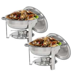 SUPER DEAL Upgraded Stainless Steel Chafing Dish