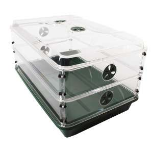 EarlyGrow 93807 Domed Propagator with two Height Extenders