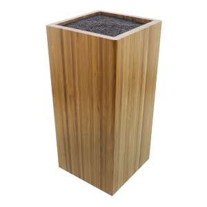 Juvale Bamboo Knife Block with Bristles