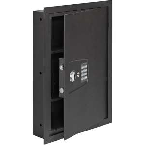 SnapSafe In Wall Safe, Electronic Hidden LED Home Security Safe