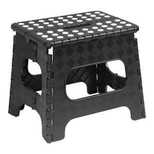 Superior Folding Stool 13 Inch Black