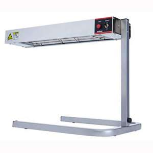 Winco ESH-1, 24L x 6W x 2-1:2H Aluminum 120V~60Hz, 500W, 4.2A Electric Countertop Strip Heater with Stand