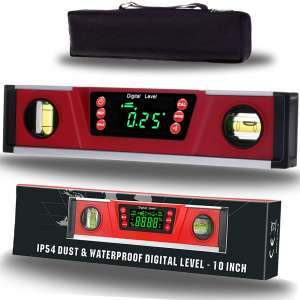 10-Inch Digital Torpedo Level and Protractor Neodymium Magnets