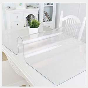 Deco2 1.5mm Thick 28 x 95 Inches Clear PVC Table Protector for Dining Room Table