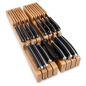 Homemaid Living In-Drawer Bamboo Knife Block 14 Knives