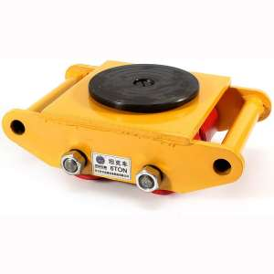 Industrial Machinery Mover 13200lb 6T Machinery Mover Roller Dolly with 360°Swivel Top Plate