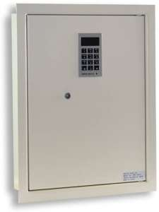 "Protex PWS-1814E Electronic Keypad Wall Safe, 5.25"",Beige"