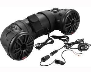 Boss Audio Systems ATV25B ATV UTV Waterproof Sound System - 6.5 Inch Speakers, 1 Inch Tweeters, Built-in Amplifier, Bluetooth Remote, Easy Installation