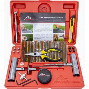 Boulder Tools - Heavy Duty Tire Repair Kit for Car, Truck, RV, Jeep, ATV, Motorcycle