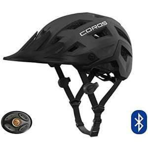 Coros SafeSound - Mountain Smart Cycling Helmet with Ear Opening Sound System,SOS Emergency Alert,LED Tail Light