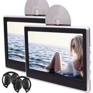 EinCar Twin Portable DVD Players Backseat in Car Entertainment System for Car