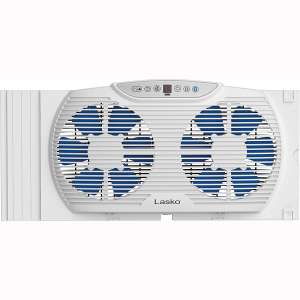 Lasko W09560 Bluetooth Enabled Twin 9-Inch Window Fan with Independent Electrically Reversible Intake