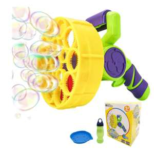WhizBuilders Bubble Machine Gun for Toddlers and Kids