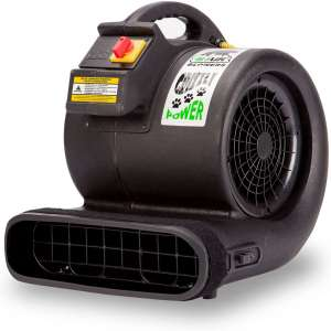 B-Air Grizzly GP-1 1 HP 3550 CFM Air Grizzly Mover Carpet Dryer Floor Fan for Water Damage Restoration