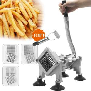 Huanyu Manual French Fry Cutter Potato Chips Cutting Machine Slicer Fruit Vegetable Cutter