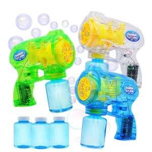JOYIN 3 Bubble Guns Blaster Kit Automatic Bubble Maker