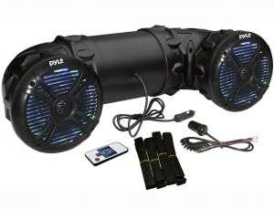 "Pyle Marine ATV Powered Speakers - 4.0 Wireless Bluetooth, 800 Watt, Color Changing LED Lights, IP44 Waterproof, 6.5"" Dual Audio Sound System"
