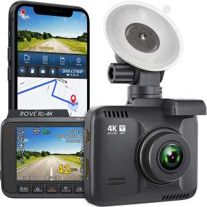 Rove R2-4K Camera Recorder Dash Cam with Night Vision and 150° Wide Angle