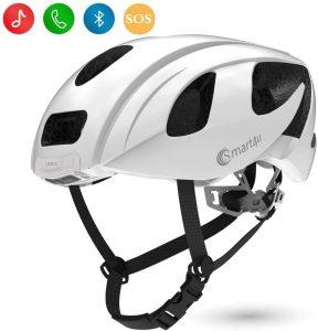 Smart4u Smart Helmet with LED taillight & Turn Indicators,SOS Alert,Bluetooth Phone One Button Answer Bike Helmet, Certified Comfortable Cycling Helmet-SH55M