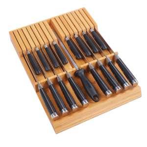 Utoplike In-Drawer Knife Block Bamboo Kitchen Knife Block