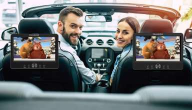 image feature Dual Screen Portable Dvd Players