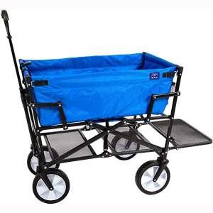Mac Sports Heavy Duty Steel Double Decker Collapsible Yard Cart Wagon …