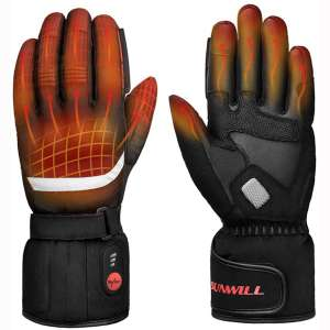 Professional Heated Motorcycle Gloves,Electric Rechargable Battery Gloves for Men Women