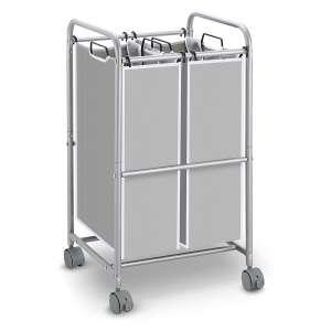 Simple Trending Heavy-Duty 2 Bag Laundry Hamper Sorter