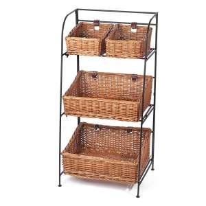 Skalny Willow Iron 3 Tier Basket Stand