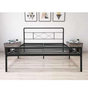 zizin Queen Heavy Duty Metal Platform Bed Frame