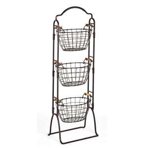 Gourmet Basics by Mikasa 3 Tier Basket Stand