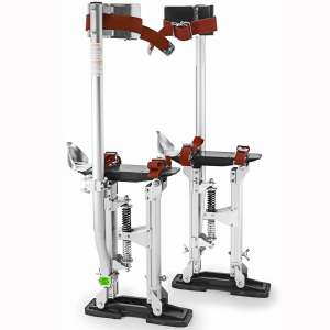 "GypTool Pro 24"" - 40"" Drywall Stilts - Silver"