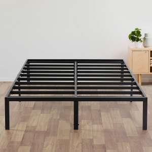 Olee Sleep Heavy Duty 14 Inch Steel Slat Support Bed Frame, Queen