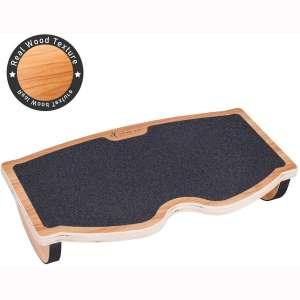 StrongTek Foot Rest Under Desk, Desk Footrest, Rocking Foot Nursing Stool, Rocker Balance Board, Natural Wood, Non-Slip, Ergonomic Pressure Relief