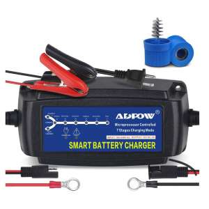 ADPOW 5A 12V Automatic 7-Stages Trickle Smart Battery Charger