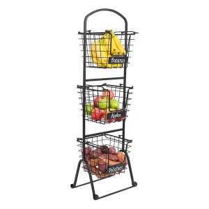 BIRDROCK Home 3 Tier Wire Market Basket