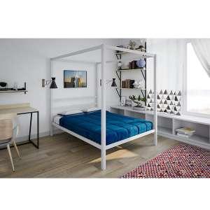 DHP Modern Metal Canopy Full Bed Frame