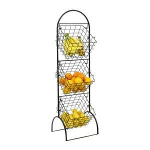 Sorbus 3 Tier Wire Basket Storage Stand