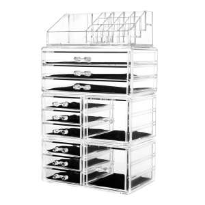 HBlife Cosmetic Makeup and Jewelry Storage Case