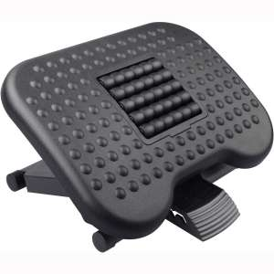 HUANUO Footrest Under Desk - Adjustable Foot Rest with Massage Texture and Roller, Ergonomic Foot Rest with 3 Height Position