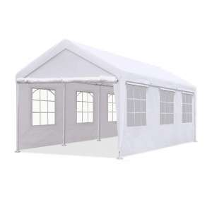 Quictent Gazebo Canopy Car Shelter with Windows