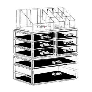 DreamGenius Cosmetic Makeup and Jewelry Storage Case
