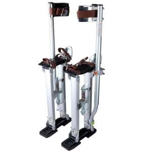 Moralty Drywall Stilts 24-40 Inch Aluminum Tool Stilt for Painting Painter Taping Blue Aluminum Tool