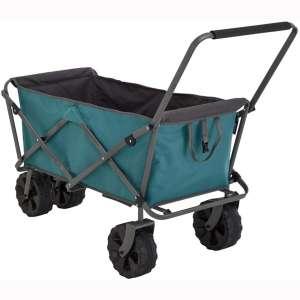 Uquip Buddy XL Outdoor Utility Wagon Beach Cart, Big Wheels for Sand, Heavy Duty 220 lbs