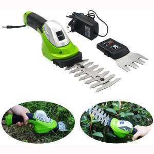 ele ELEOPTION Cordless Hedge Trimmer Manual Grass Trimmers Cordless Clippers - 7.2V Rechargeable Battery