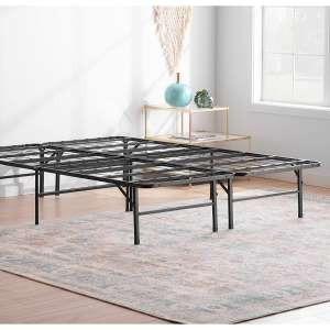 Linenspa Metal Platform 14 Inch Folding Bed Frame- 5 Minute Assembly- Queen