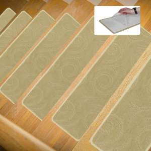 Lonnie Life Anti-Skid Carpet Stair Treads,No Glue But Self Adhesive,Be Used Repeatedly,Soft and Wear-Resisting,Set of 13 Non-Slip Stair Treads