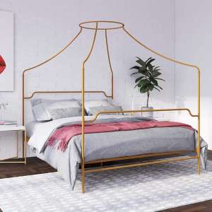 Novogratz Camila Metal Canopy Full Bed Frame